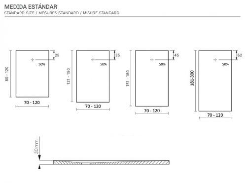receveur de douche sur mesure pierre ob. Black Bedroom Furniture Sets. Home Design Ideas