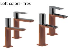 Robinet Mitigeur lavabo loft Colors Tres, finition Marron