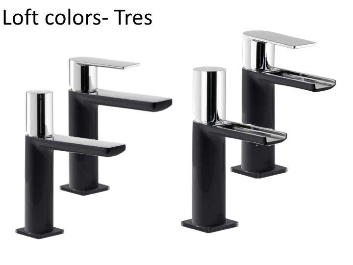 Meubles lave mains robinetteries lavabo robinetterie robinet mitigeur lavabo loft colors - Robinet noir salle de bain ...