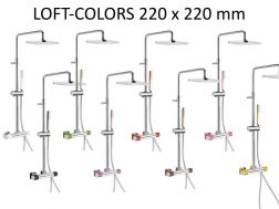 Colonne de douche thermostatique LOFT-COLORS-tres, Douche fixe de 220x220