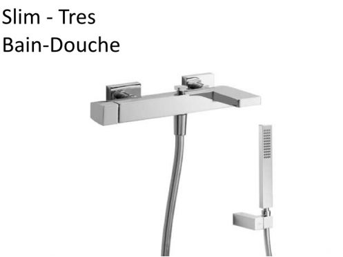 Meubles lave mains robinetteries robinet bain douche robinetterie bain douche mitigeur slim - Robinetterie bain douche ...