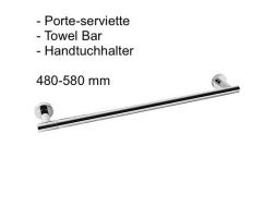 Porte-serviette 480 / 580 mm.: finition chrome