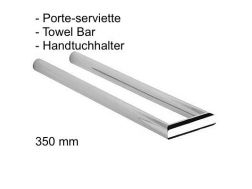 porte-serviette double; 350 mm.: finition chrome cub-tres