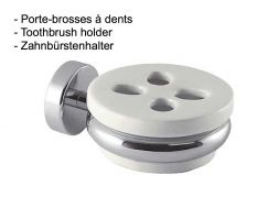 Porte-brosses à dents: finition chrome
