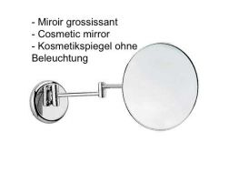 Miroir grossissant; Ø 210 mm.: finition chrome