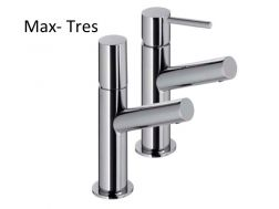 Robinet Mitigeur lavabo Max-tres 122 mm, finition chrome