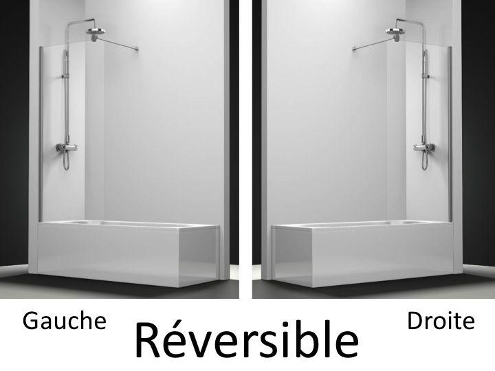 Parois de douche largeur 40 pare baignoire panneau fixe 40 cm hauteur de 1 - Panneau de baignoire ...