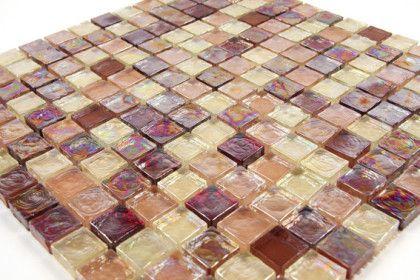 Panache Paillette Bourbon, Alcool, Mosaique de verre, carrelage de 30,5x30,5 cm. Mat Inter