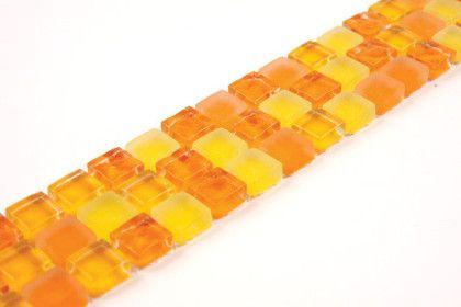 Paves briques de verres mosa ques et galets bmh orange for Listel carrelage metro