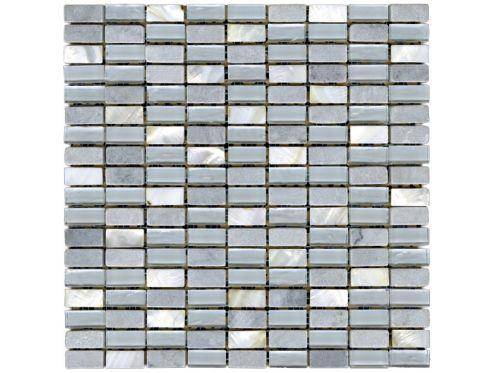 Paves briques de verres mosa ques et galets n003 nacar for Carrelage 30x30 gris