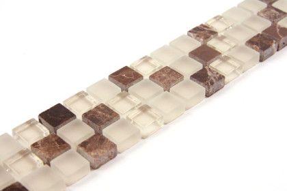 Paves briques de verres mosa ques et galets glasstone - Listel salle de bain ...