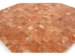 Rouge Alicante poli, Mosaique carrelage de 30x30 cm. Mat Inter