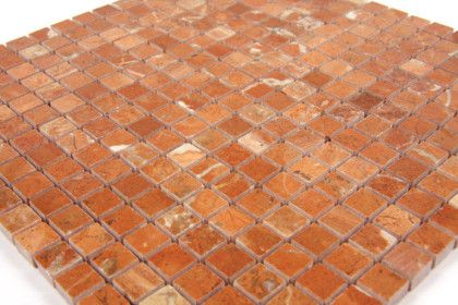 Paves briques de verres mosa ques et galets rouge for Carrelage exterieur rouge brique