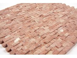 Natural Split Rouge Alicante, Mosa�que, carrelage de 30x30 cm. Mat Inter
