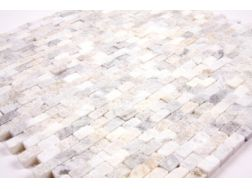 Natural Split Carrare, Mosa�que, carrelage de 30x30 cm. Mat Inter