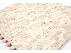 Natural Split Botticino, Mosa�que, carrelage de 30x30 cm. Mat Inter