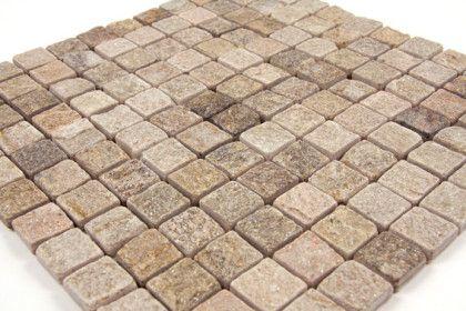 Paves briques de verres mosa ques et galets pierre pav - Pave pierre naturelle ...