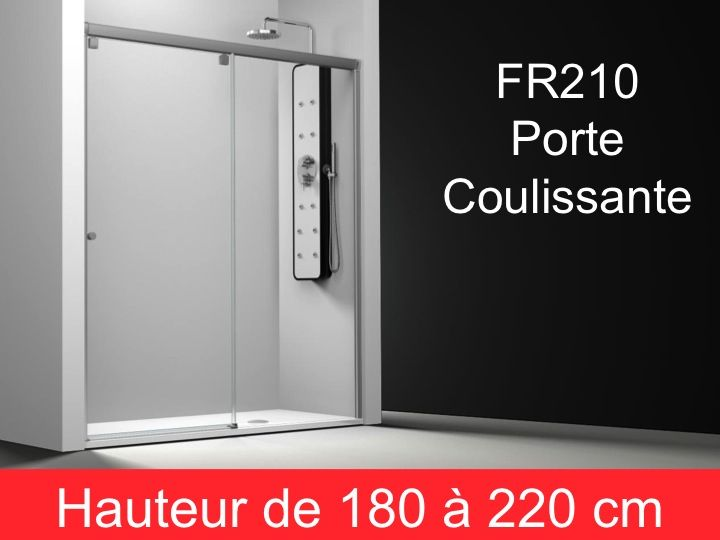 parois de douche largeur 150 porte de douche coulissante 150 cm fixation droite hauteur de. Black Bedroom Furniture Sets. Home Design Ideas