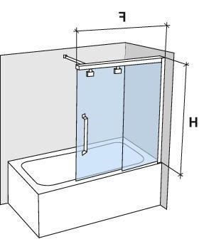 Parois de douche largeur 120 pare baignoire coulissant 120 cm fixation droite hauteur de Pare baignoire coulissant