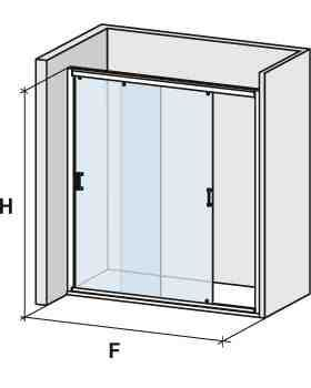 Parois de douche largeur 140 porte de douche 2 panneaux coulissants 140 cm hauteur de 180 - Porte de service hauteur 180 ...