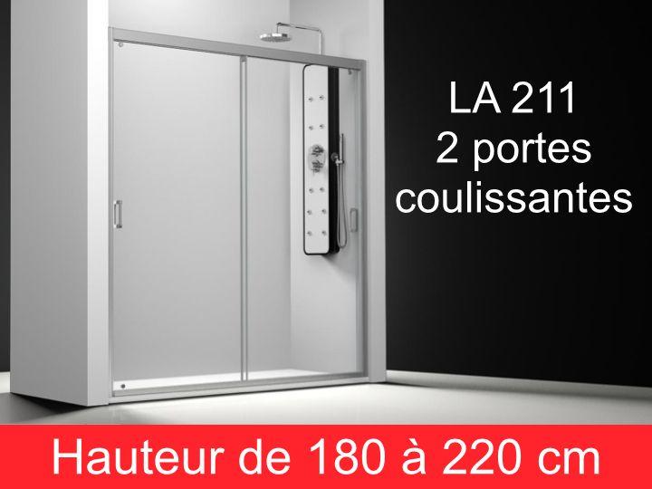 Parois de douche largeur 180 porte de douche 2 panneaux coulissants 180 cm - Cabine de douche hauteur 180 cm ...