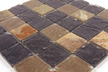 paves briques de verres mosa ques et galets indiens cheyenne verre gris pierre mosa que. Black Bedroom Furniture Sets. Home Design Ideas