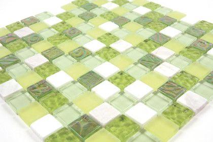 Paves briques de verres mosa ques et galets mananjary for Carrelage sol vert