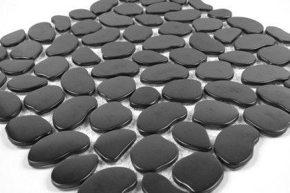 Galets de Mosaïque Inox Brossé noir. Mat Inter