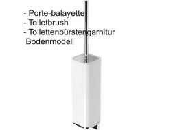 Porte-balayette mural: finition chrome loft-tres