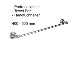 Porte-serviette 400-600 mm.: finition chrome RETRO-TRES