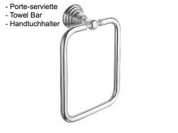 Porte-serviette carré: finition chrome RETRO-TRES