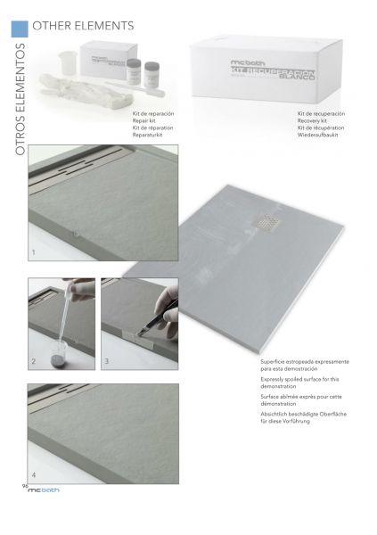 receveurs de douches accessoires kit de r paration pour receveur de douche en r sine. Black Bedroom Furniture Sets. Home Design Ideas