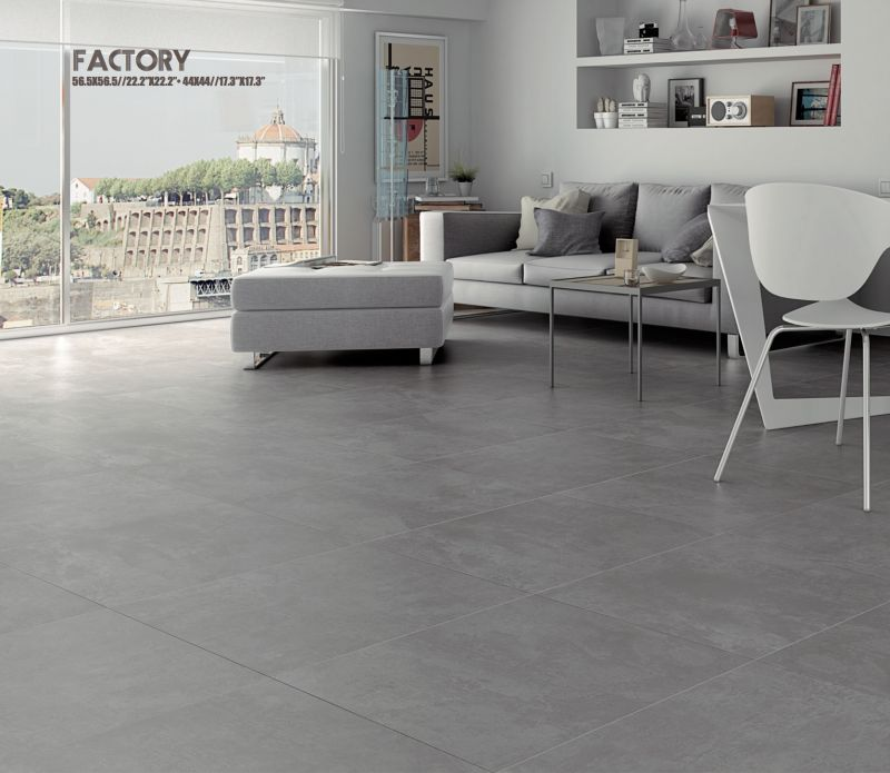 Carrelages mosa ques et galets terrasse factory gris 56 for Carrelage 5 cm