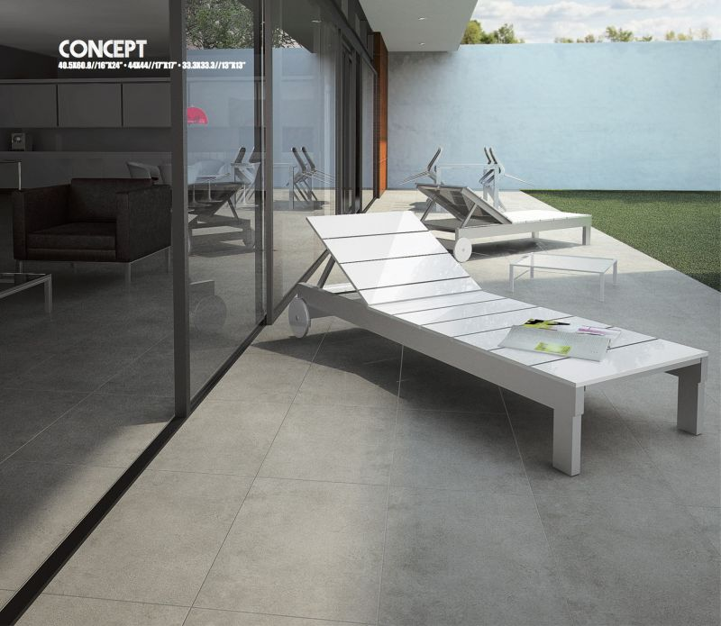 Carrelages mosa ques et galets terrasse concept gris for Photo terrasse carrelage gris