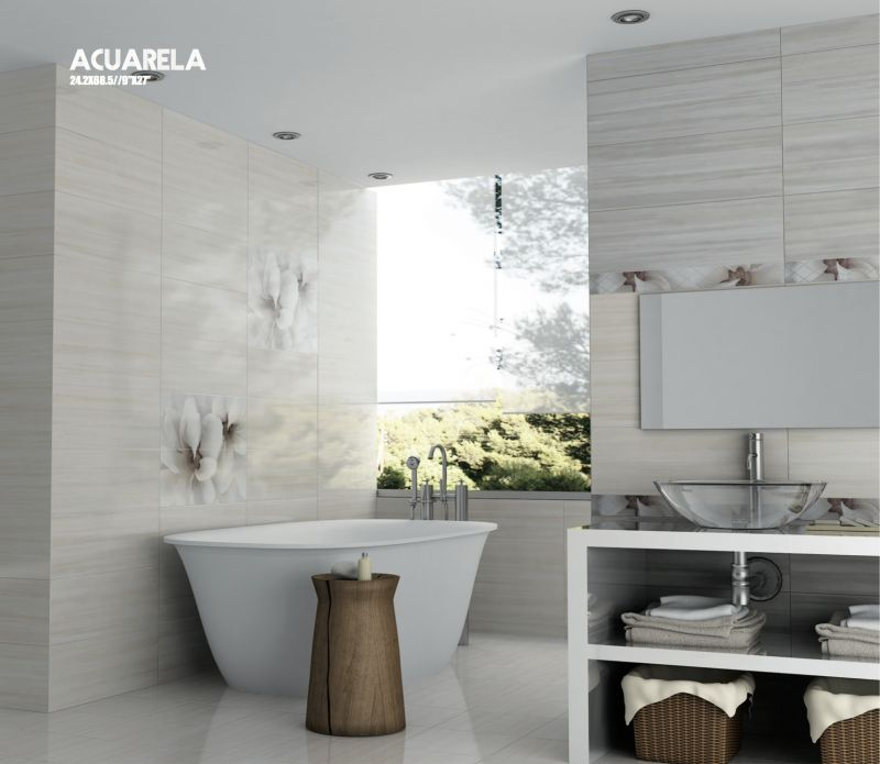 Carrelage sol salle de bain cuisine et terrasse mural - Peindre faience salle de bain ...