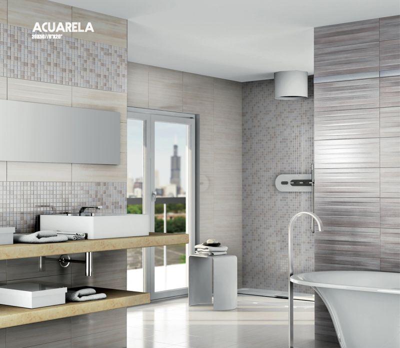 carrelage sol salle de bain cuisine et terrasse mural acuarela crema taupe 20x50 cm. Black Bedroom Furniture Sets. Home Design Ideas