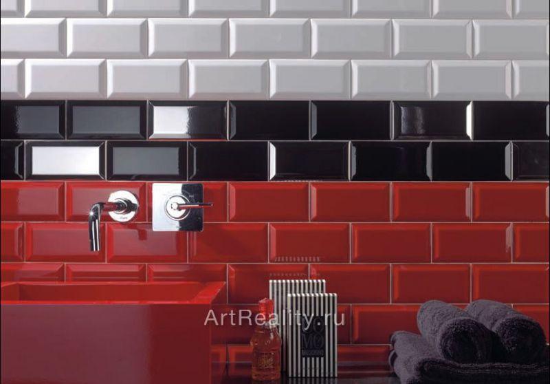 carrelage sol et mur metro - metro blanco mate 7.5x15 cm