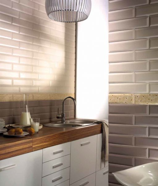 carrelages mosa ques et galets metro tube crema matt cm carrelage metro fa ence. Black Bedroom Furniture Sets. Home Design Ideas