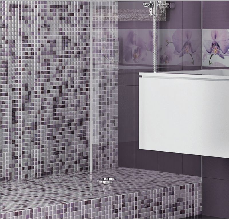 Carrelage sol salle de bain cuisine et terrasse mural colours berenjena 20x50 cm carrelage for Prix carrelage mural salle de bain
