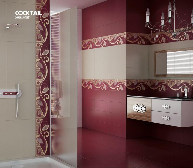 Carrelage sol salle de bain cuisine et terrasse mural for Faience rouge salle de bain