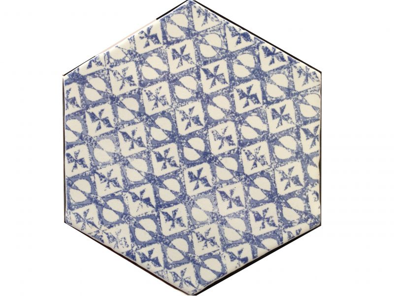 carrelages mosa ques et galets cuisine mural hexagon marrakech azul mosaico 15x15 cm. Black Bedroom Furniture Sets. Home Design Ideas