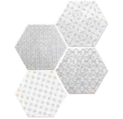 carrelages mosa ques et galets cuisine mural hexagon marrakech gris mosaico 15x15 cm. Black Bedroom Furniture Sets. Home Design Ideas