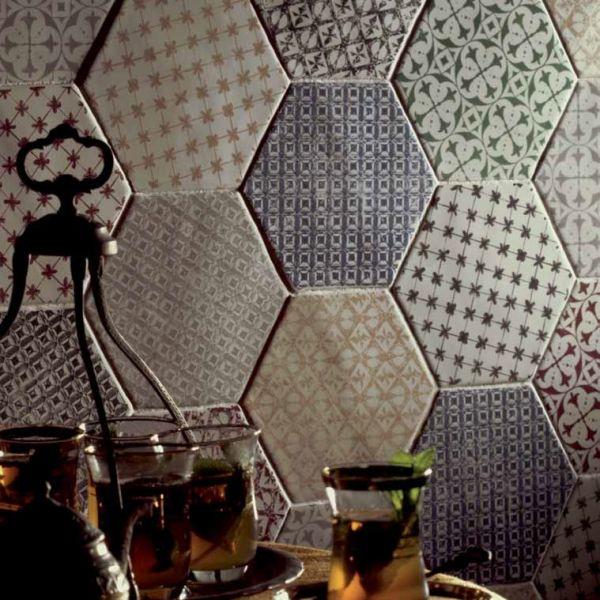 carrelage cuisine hexagonal