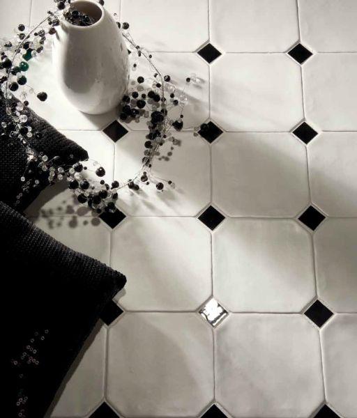 Carrelages Mosaiques Et Galets Sol Octagon Blanc Mate 15x15 Cm