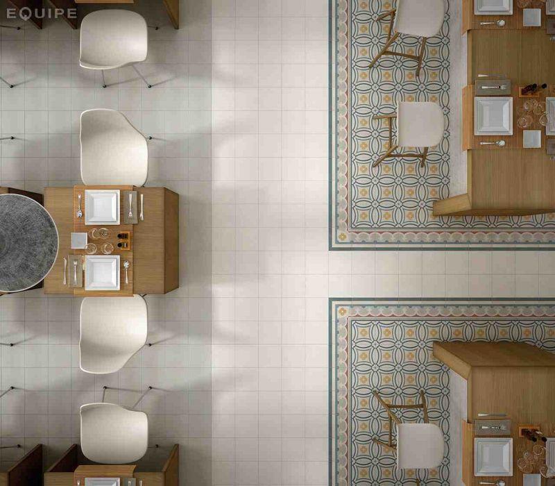 Carrelage sol et mur c ciment imitation paris 16e 20x20 for Gres cerame imitation carreau de ciment