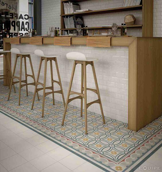Carrelage sol salle de bain cuisine et terrasse c ciment imitation saint - Carrelage imitation carreau de ciment ...