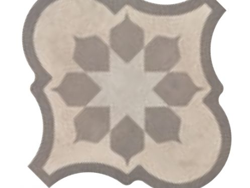 Lyon Blume Cream 26,5x26,5 - Carrelage imitation carreaux de ciment, gr�s C�rame