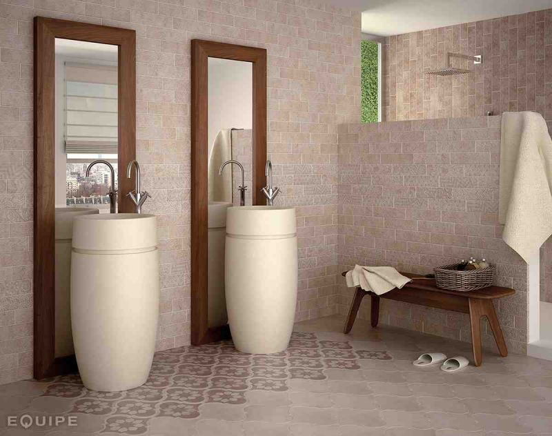 carrelage imitation carreaux de ciment salle de bain. Black Bedroom Furniture Sets. Home Design Ideas