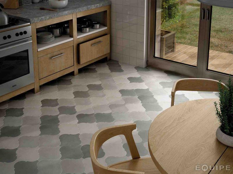 Carrelage sol salle de bain cuisine et terrasse c ciment imitation facto - Carreaux de ciment gres cerame ...
