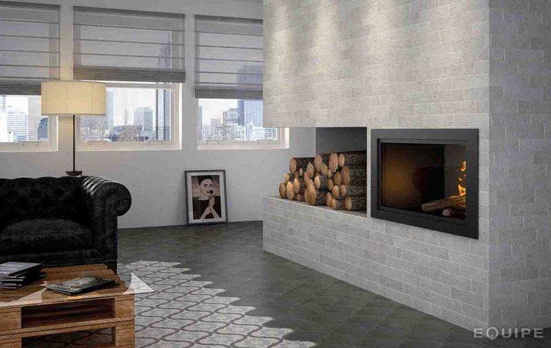 Carrelage sol et mur c ciment imitation lyon mond grey - Gres cerame imitation carreaux ciment ...